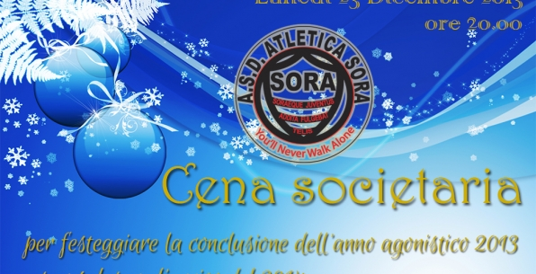 Lunedì 23 Dicembre: Cena societaria